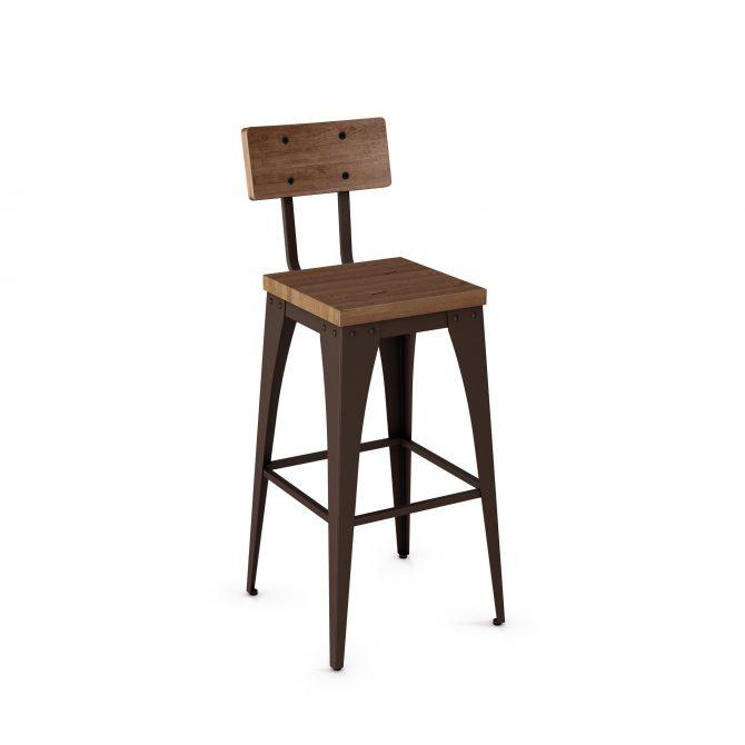 Upright Non-Swivel Stool w/ Backrest